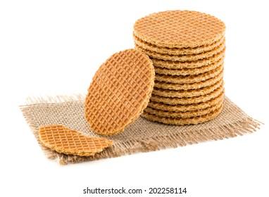 Dutch Waffles isolated on white background