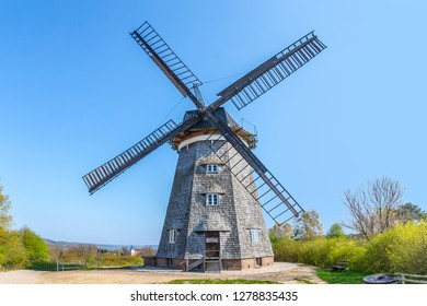 The Dutch windmill in Benz on the island of Usedom, Mecklenburg-Western Pomerania, Germany
