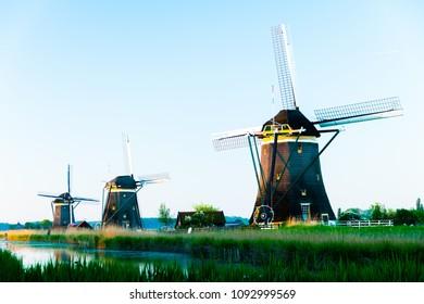 Dutch windmill at driemanspolder