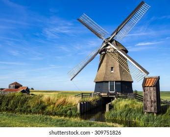 Dutch windmill Hoorn,Netherlands