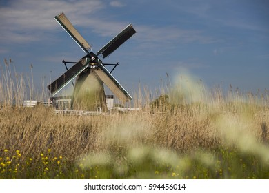 Dutch windmill in Kinderdijk