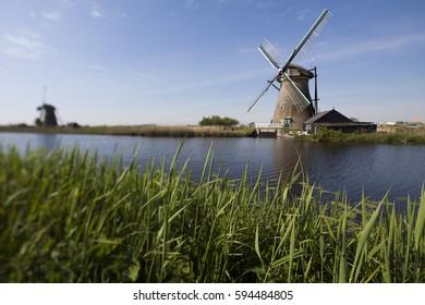 Dutch windmill in Kinderdijk