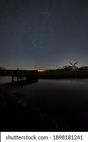 Dutch windmill under Orion belt