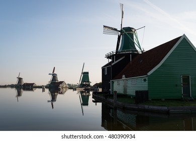 Dutch windmills at Zaanse Schans, Netherlands