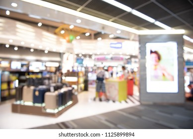 Duty Free shopping, Abstract blur shopping mall and department store at an Airport
