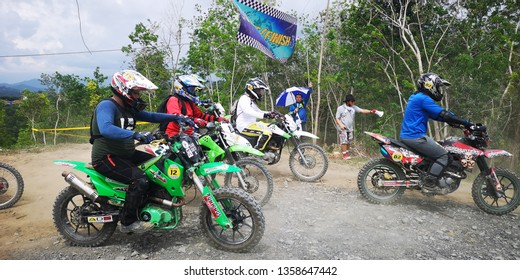 Duvanson, Penampang-March 28, 2019:Motorcross racing along the dirt road and hilly terrains of Borneo.