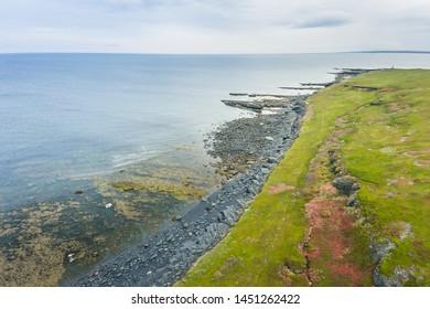 Dva Brata Rock (Saami tract). Sredniy Peninsula. Barents Sea, Murmansk region. Russia. Aerial - Shutterstock ID 1451262422