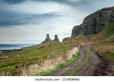 Dva Brata Rock (Saami tract). Sredniy Peninsula. Barents Sea, Murmansk region. Russia - Shutterstock ID 1514008460