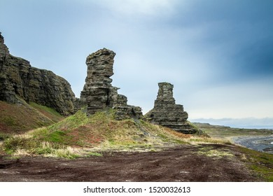 Dva Brata Rock (Saami tract). Sredniy Peninsula. Barents Sea, Murmansk region. Russia - Shutterstock ID 1520032613