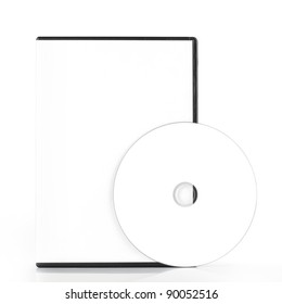 DvD Blank Case With Blank Disk isolated on white background
