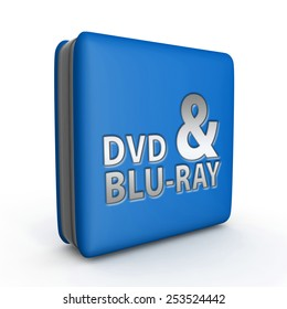 Dvd and bluray square icon on white background