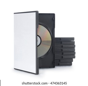 DVD Box with disc on white background