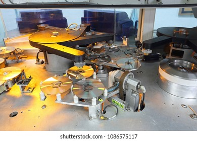 DVD and CD Manufacturing Machine Interior