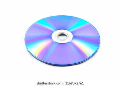 dvd disc / dvd or blue ray disc isolated on white background