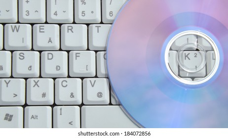 DVD with Keyboard Background