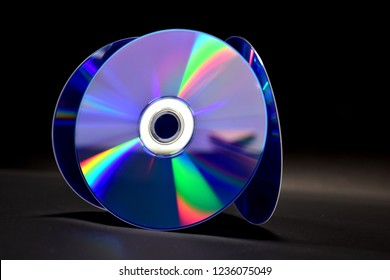 dvd is placed on a black background.