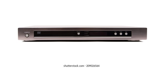 DVD player on white background
