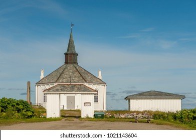 Dverberg church on the island of Andoya in Lofoten. This octagonal wooden church from 1843 has a seating capacity of 350.