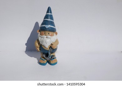 Dwarf, garden gnome, gnome (not copyrighted) in front of white background
