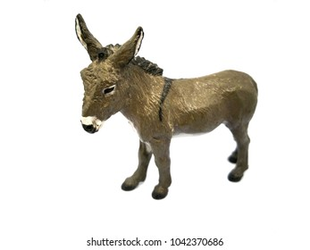 dwarf horse model on a white background
