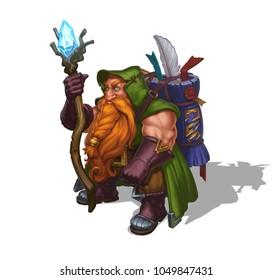 Dwarf Mage on White