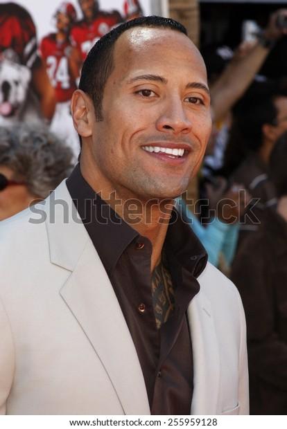 Dwayne Rock Johnson Attends World Premiere Stock Photo Edit