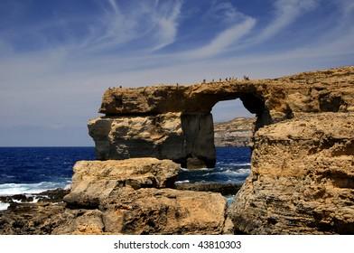 dwejra landmark in the island of gozo, malta