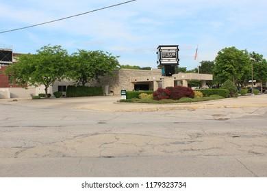 Dwight,Illinois - 06/06/2015 - Frank L. Smith National Bank. Architect Frank Lloyd Wright. Built 1905.