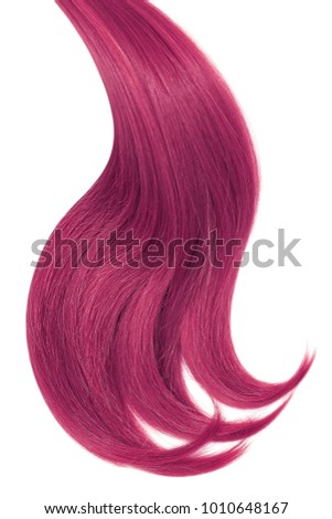 Dyed Dark Pink Hair Isolated On Stock Photo Edit Now 1010648167