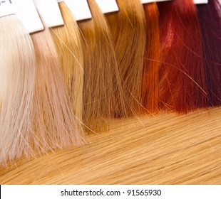 dyed locks of hair for hairdresser