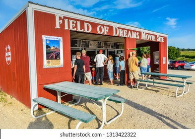 Dyersville, Iowa / USA - 08-30-2014: The Field of Dreams is a baseball field and pop-culture tourist attraction built originally for the movie of the same name.