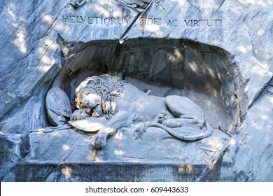 Dying Lion of Lucerne Monument, Lucerne Switzerland