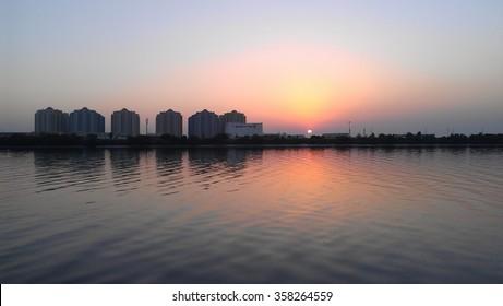 Dying Sun in Karachi