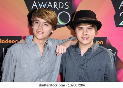 Dylan and Cole Sprouse at the Nickelodeon's 23rd Annual Kids' Choice Awards, UCLA's Pauley Pavilion, Westwood, CA 03-27-10