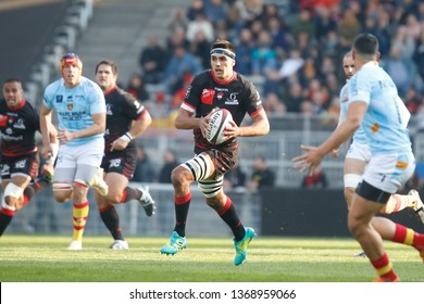 Dylan Cretin of Lyon during the French championship Top 14 rugby union match between Lyon OU and USA Perpignan on April 13, 2019 at Matmut stadium in Lyon, France - Photo Romain Biard