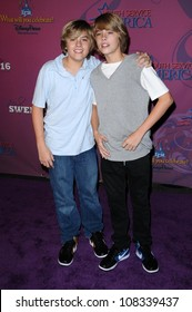 Dylan Sprouse and Cole Sprouse  at the Sweet 16 Celebration for Miley Cyrus. Disenyland, Anaheim, CA. 10-05-08
