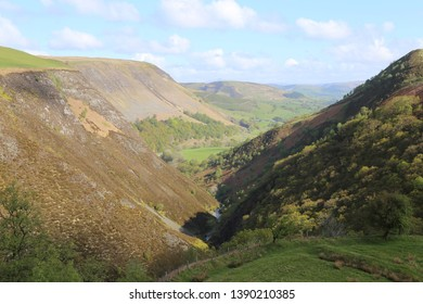Dylife Gorge, Powys, Wales, was created by glacial action in the last ice age.