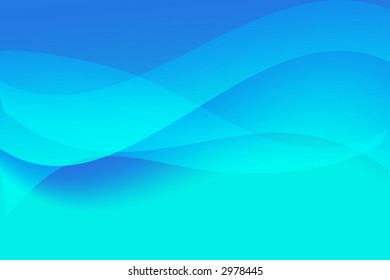 Dynamic blue waves background