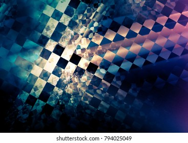 dynamic checkered abstract background. chaotic texture