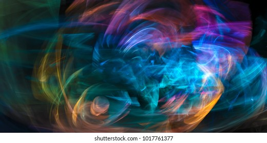 dynamic colorful abstraction, digital artwork, design element