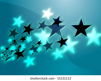 Dynamic flying stars abstract geometric wallpaper background