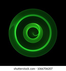 Dynamic neon green dynamic circle shining modern design
