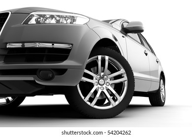 Dynamic view of the modern car, front view
