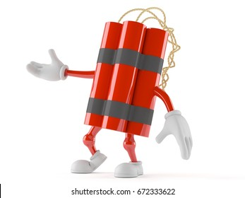 Dynamite character isolated on white background. 3d illustration