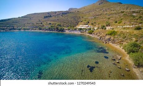 Dyo Liskarias Beach in Leros Island