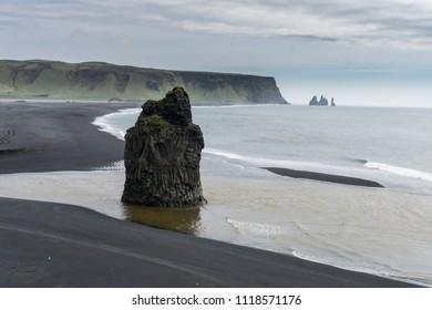 Dyrholaey Peninsula Iceland Sea Formations Black Sand Beaches