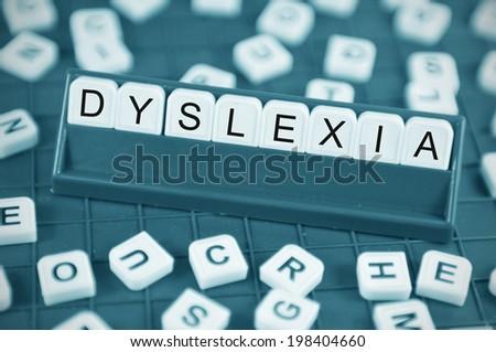 Dyslexia Concept Game Board Random Letters Stock Photo (Edit