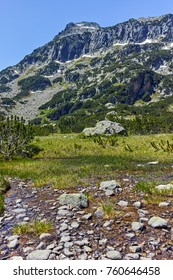 Dzhangal peak and Banski lakes, Pirin Mountain, Bulgaria