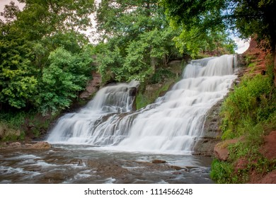 Dzhurinsky waterfall - a waterfall on the river Dzhurin in Zaleschitsky district of Ternopil region of Ukraine.. The height of the waterfall is 16 meters.