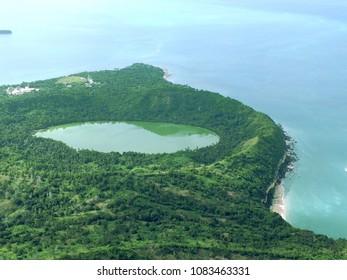 Dziani lake by plane (Mayotte, France)